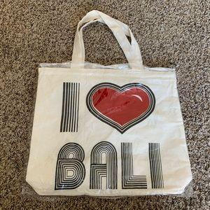 Handbags - Reusable Tote Bag with Zipper. I ❤️ Bali bag.